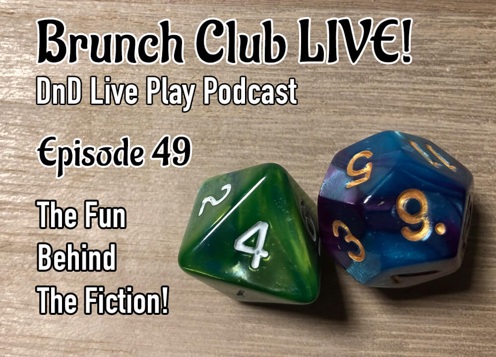 Live DnD Game Play Cover with RPG dice