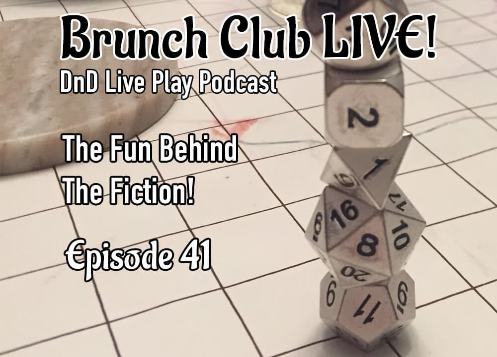 DnD Live Play Podcast Cover art with dice