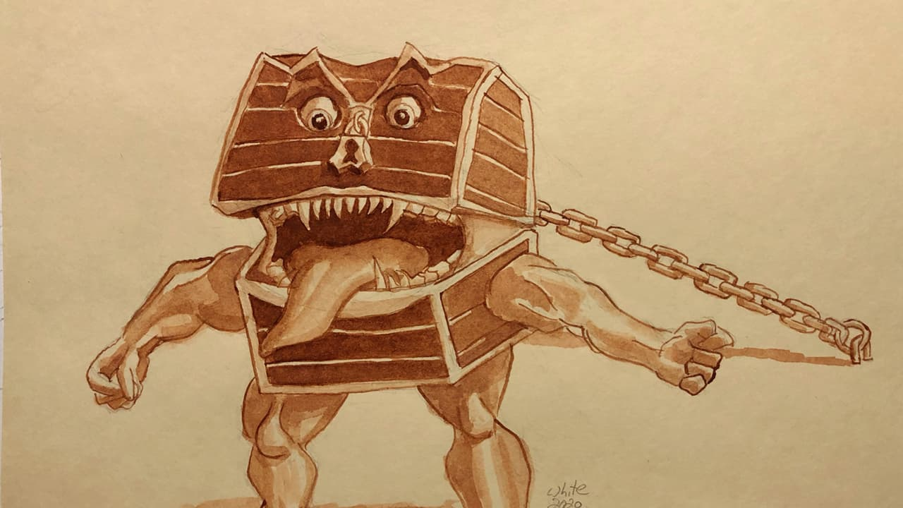 DnD Illustration of a Mimic