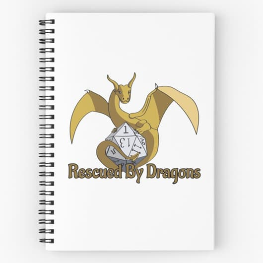 Rescued by Dragons Logo Notebook