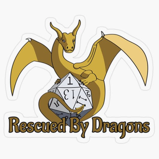 Rescued By Dragons Logo Sticker